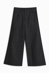 Victoria Beckham Wide Cropped Jeans Blue