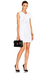 Victoria Beckham Twist Bow Dress In White