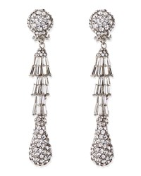 Silver Plated Deco Crystal Clip On Earrings Silver Jose And Maria Barrera