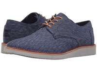 Toms Brogue Navy Textured Textile Men's Lace Up Casual Shoes