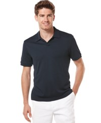 Perry Ellis Big And Tall Short Sleeve Open Polo Shirt Eclipse