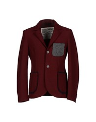 Novemb3r Suits And Jackets Blazers Men Maroon