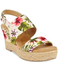 White Mountain Bar Harbor Espadrille Wedge Sandals Women's Shoes