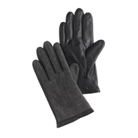 J.Crew Tweed And Leather Smartphone Gloves