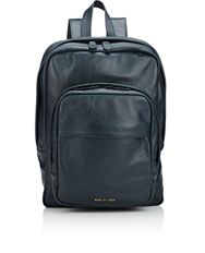 Common Projects Men's Zip Around Backpack Blue