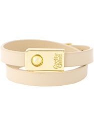 See By Chloe Double Wrap Bracelet Nude And Neutrals
