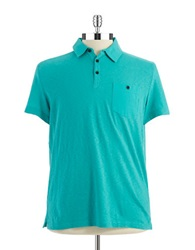 Kenneth Cole Pocket Polo Shirt Caribbean