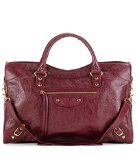 Balenciaga Classic City Leather Tote Purple