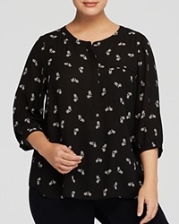 Nydj Plus Bicycle Print Blouse Bicycle Black