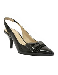 Ellen Tracy Hillard Slingback Pumps With Bow Accent Black