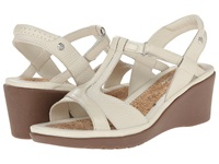 Hush Puppies Natasha Russo Off White Leather Women's Wedge Shoes Bone
