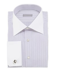 Stefano Ricci Striped Dress Shirt Lavender Purple