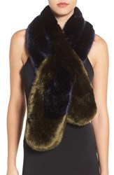 Ted Baker Women's London Faux Fur Stole Navy