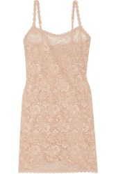 Cosabella Foxie Stretch Lace Chemise Beige