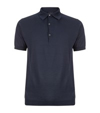 John Smedley Knitted Polo Shirt Male