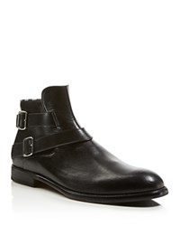 Justin Deakin Edward Buckle Low Boots Black