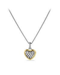 Cable Collectibles Heart Charm With Gold David Yurman