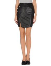Twenty8twelve Leather Skirts Black