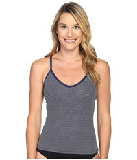 Carve Designs Catalina Tankini Anchor Chevron Women's Swimwear Gray
