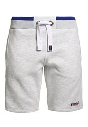 Superdry True Grit Tracksuit Bottoms Ice Marl Grey