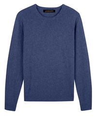 Jaeger Men's Cashmere Crew Neck Sweater Chambray