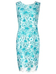 Precis Petite Cotton Lace Shift Dress Multi Blue