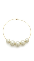 Kenneth Jay Lane Pearl Choker Necklace Pearl Gold
