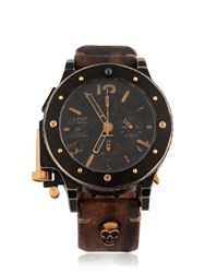 U Boat 42 Bk Chrono Gold Unic Watch