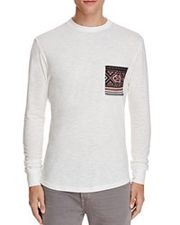 Sovereign Code Gus Graphic Long Sleeve Pocket Tee White Re