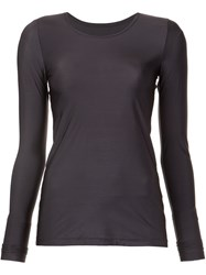 Lareida Stretch Long Sleeve T Shirt Grey
