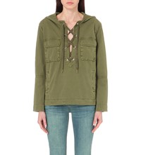 Free People Safari Cotton Jacket Green