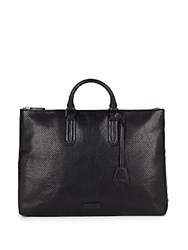 Uri Minkoff Devin Perforated Leather Tote Black