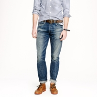 J.Crew Wallace And Barnes Slim Selvedge Jean In Drydock Worn Wash