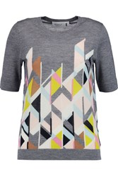 Pringle Cashmere And Silk Blend Top Gray