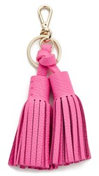 Kate Spade Double Leather Tassel Keychain Tulip Pink