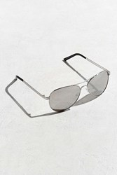 Urban Outfitters Standard Aviator Sunglasses Silver