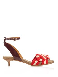 Isabel Marant Polly Striped Bow Sandals