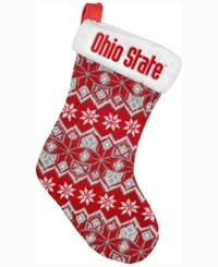 Forever Collectibles Ohio State Buckeyes Ugly Sweater Knit Team Stocking Red