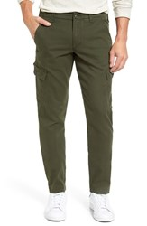Lacoste Men's Big And Tall Slim Fit Cargo Pants Baobab Green