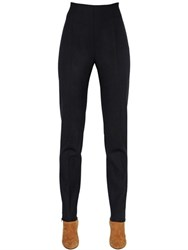 Max Mara High Waisted Stretch Wool Crepe Pants