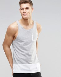 United Colors Of Benetton Vest With Contrast Hem Grey