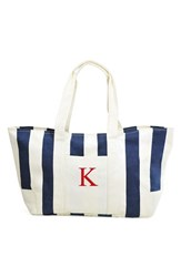 Cathy's Concepts Personalized Stripe Canvas Tote Blue Navy K