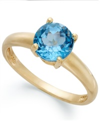 Victoria Townsend 18K Gold Over Sterling Silver Ring Blue Topaz December Birthstone Ring 1 1 2 Ct. T.W.