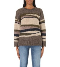 Closed Striped Knitted Military Jumper Rope