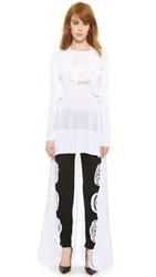 Antonio Berardi Lace Trim Lop Top White