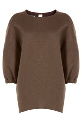 Rochas Wool And Angora Pullover Brown