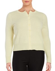 Lord And Taylor Plus Cashmere Button Front Cardigan Sunbeam