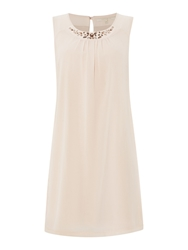 La Fee Maraboutee Sleeveless Lined Voile Dress Pale Pink
