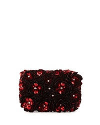 Rose Hard Shell Clutch Bag Red Alice Olivia