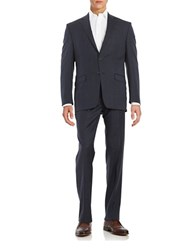 Lauren Ralph Lauren Wool Windowpane Suit Navy